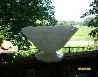 Vintage White Milk Glass Fruit Bowl, Large Bowl, Grapevine Design Milk Glass, Kitchen Decor, Collectible Milk Glass
