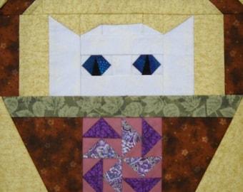 Pinwheel Cat Quilt Block Pattern
