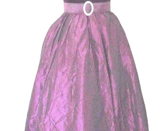 Elegant Radiant Orchid Taffeta and Velvet Maxi Dress Formal Cocktail Prom