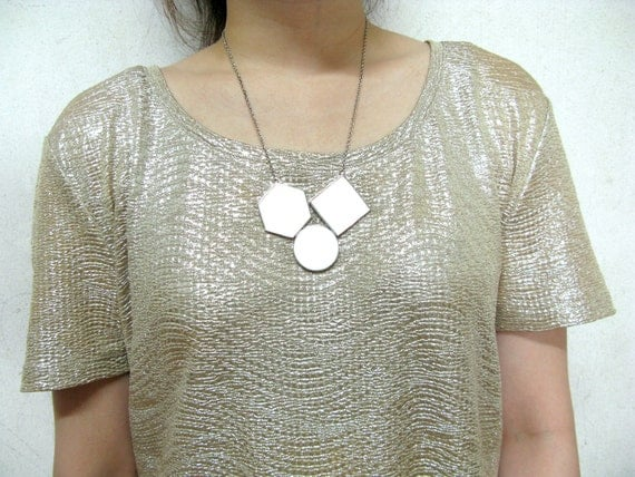 The Geo 02 necklace, geometric accessories, geometric resin necklace