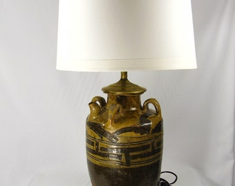 Customized Unique Vintage Table Lamp Handmade Chinese Clay Converted Vase