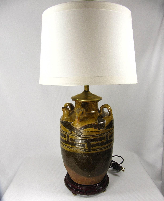 Hold toni ann customized unique vintage table lamp handmade - Unique handmade lamps ...