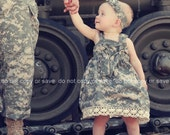 ACU Fabric Knot Dress in Authentic acu Military Fabric by Cheery Kiri Designs