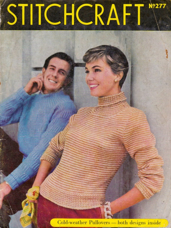HALF PRICE Stitchcraft Magazine January 1957 - Vintage Knitting Patterns for Women Men and Children