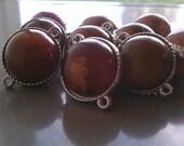 SALE-Amber Colored Connectors/Beads 10pcs