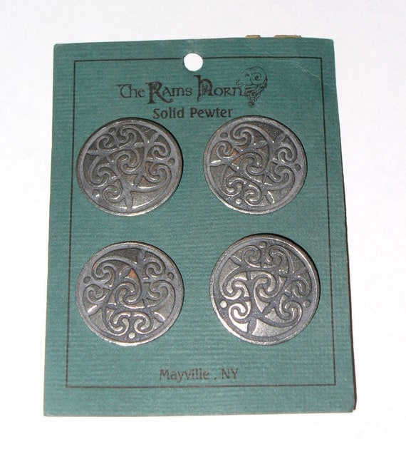 Pewter  Buttons - Celtic Knot  Design