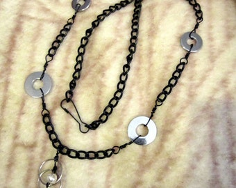 Black and Chrome Necklace