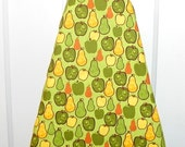 Ironing Board Cover - Pears and Apples in green, brown and yellow