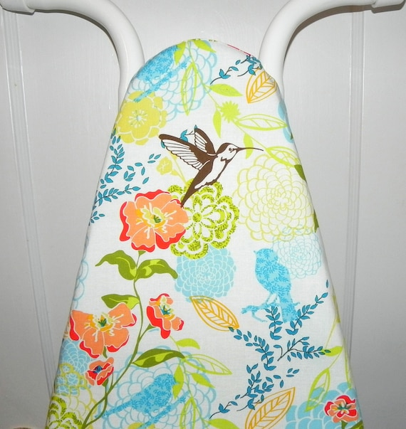 Ironing Board Cover - Hummingbirds and Flowers