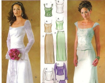 Two Piece Formal Dress Pattern McCalls 4298(Womens sizes 4-6-8-10)