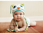 Crochet Owl Hat...makes a great baby gift or photo prop!