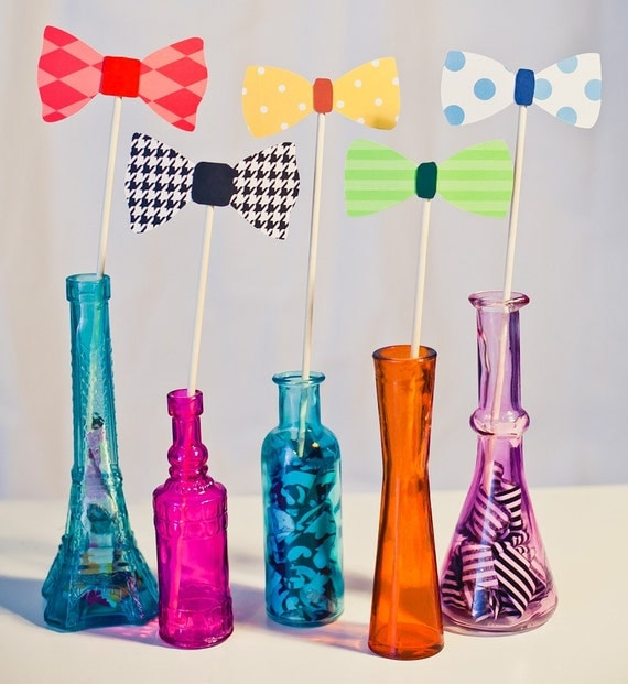 Bowties on a Stick - Set of 10 Photo Booth Props