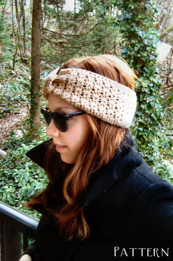 Turban Headband Easy PDF Crochet Pattern