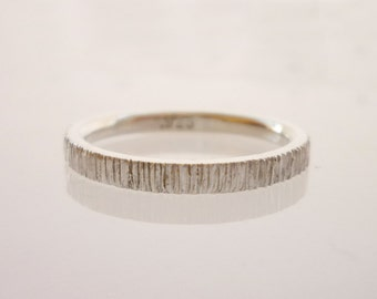 Wedding band, stacking ring, delicate gold ring, 14k white gold - Velvet No.3