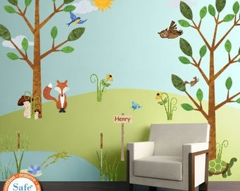 Amazing Forest Wall Decals For Nursery And Kids Room   Woodland Stickers   JUMBO SET Part 7