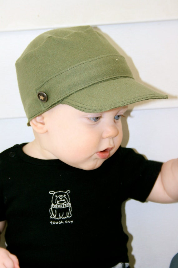Military Inspired Baby/Toddler Boy Hat, Newborn-24 months