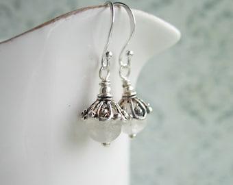 Citrine Earrings, November Birthstone, Pale Yellow Gemstone, Filigree Earrings, Swedish Jewelry Design, Made in Sweden