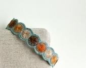 Wool Felt Headband ø Hand Embroidered ø LoftFullOfGoodies