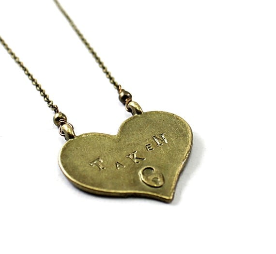 Heart necklace: AVAILABLE TAKEN engraved necklace reversible necklace Valentines Day necklace love jewelry for girlfriend wife