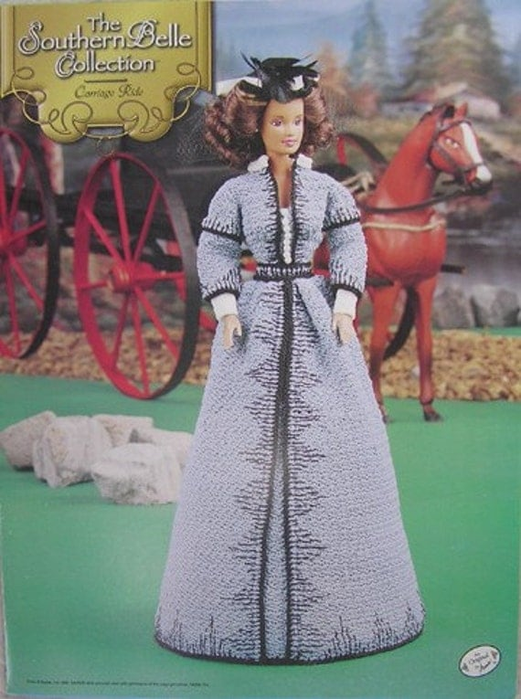 Annie's Attic Crochet Bed Doll Pattern Southern Belle Carriage Ride Gone with the wind original pattern