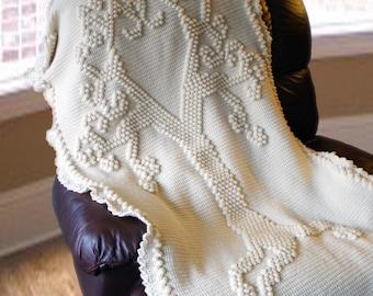 Crochet Pattern-- Tree of Love Heirloom Afghan --Crochet Pattern