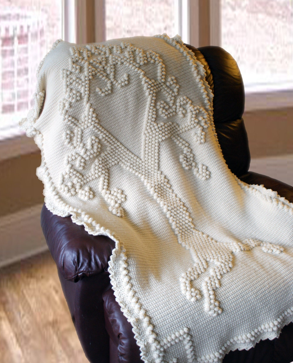 Crochet Heirloom Stitches : Crochet PatternTree of Love Heirloom Afghan Crochet by ...