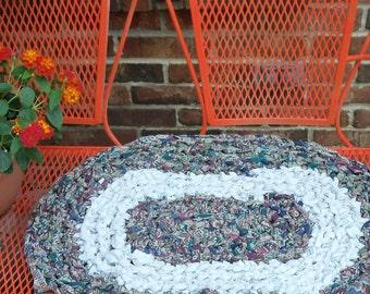 Primitive Cozy Fireside  Rag rug