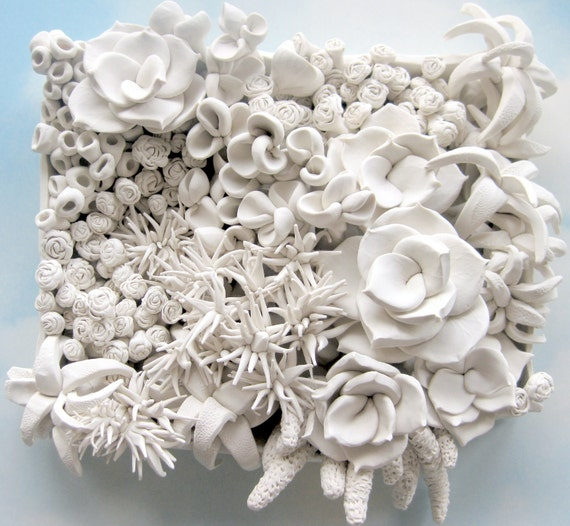 Clay flowers wall decor : Design your own large succulent clay wall sculpture by