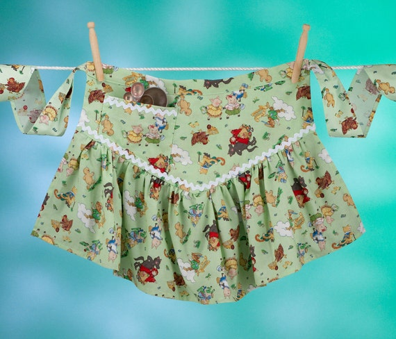 Vintage Apron Dress, Fairy Tale Apronafore Bibock