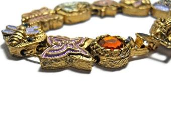 Vintage Slider Bracelet Retro Victorian 1960s