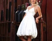 Short Wedding Gown, Destination Wedding, Informal Silk Wedding Dress //Made to Order //Eco Friendly