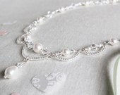 Swarovski Crystal and Pearl Necklace - Made to order