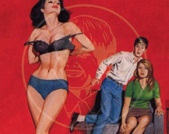 Sex Avengers - 10x16 Giclée Canvas Print of a Vintage Pulp Paperback Cover