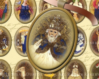 Medieval Tarot Cards - 30 x 40mm Cameo-Size Ovals - Digital Collage Sheet - Instant Download and Print