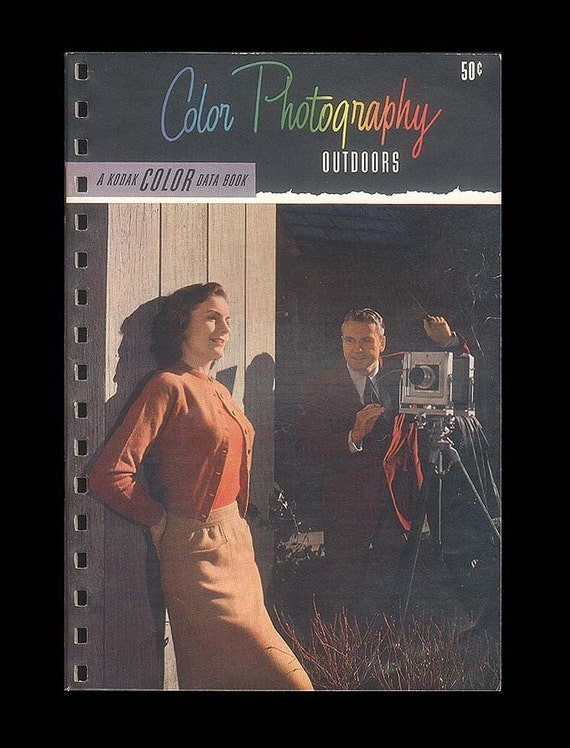Kodak Color Data Book - Color Photography Outdoors - Vintage 1950 Instruction Booklet - Kodak Master View Camera