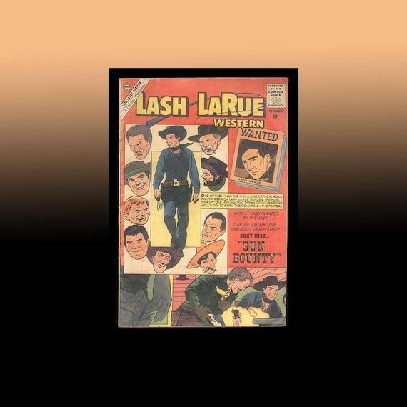 Vintage Comic Book Lash LaRue Western 1960 Cowboy Hero