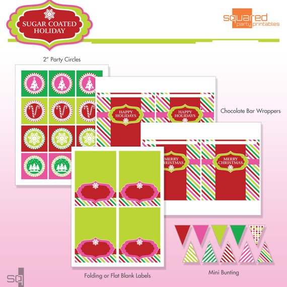 Christmas holiday party printables diy printable package sugar il570xn pin it solutioingenieria Image collections