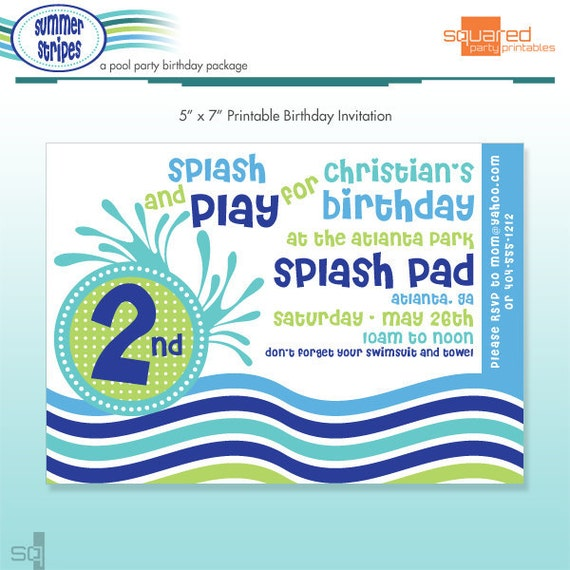 Shark Party Invitations with great invitation design