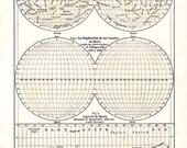 1920s Astronomy Vintage Print Planet Mars Maps