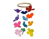 Butterfly Baby Crib Mobile - Bright Rainbow