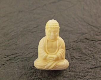 6 Ivorine Buddha Beads Bd04a