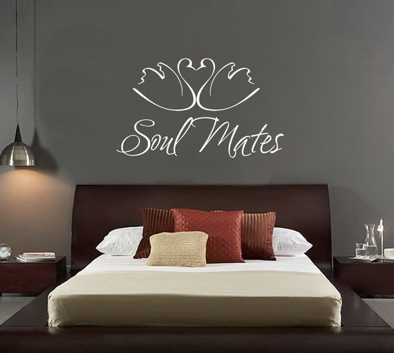 Soul Mates Vinyl Wall Decal - Swans Wall Decal - Wedding Wall Decals - Wedding Wall Decor 22146