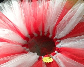 Tutu:  RED & WHITE Christmas Toddler Tutu