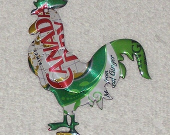 Rooster - Ginger Ale Green Red Soda Can Magnet (Replica)