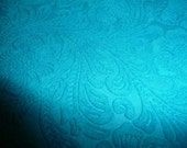 """Suede Leather 5""""x11"""" Etched Turquoise DAISY Floral Pressed Design Matte Cowhide #338 3.5 oz / 1.4 mm PeggySueAlso"""