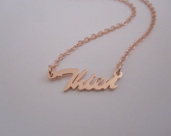Personalized Mini Rose Gold Name Necklace