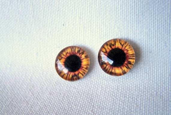 Glass supplies cabochon 12mm glass eye cabochons for jewelry making