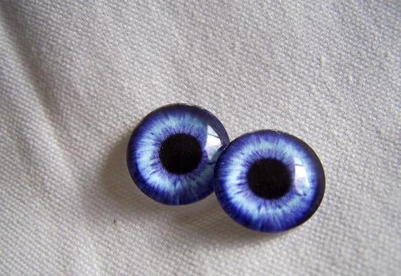 12mm Eye chips blue glass eyes for art dolls and fantasy figures