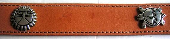 Vintage Leather Belt, Southwest Style