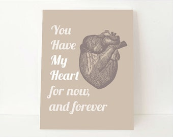 Love In Art - Love Wall Art - Love Wall Decor - Heart Wall Art - Heart Wall Decor - Dorm Room Art - Gift For Boyfriend - Valentines Gift